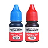 ACCU-STAMP Ink Refill for Pre-Ink Stamps, Blue and