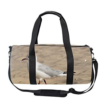 66cb57a98d Image Unavailable. Image not available for. Color  Ladies White Bird  Holdalls Weekender Bag Duffel ...