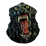 AMER-ICAN WER-EWOLF I-N LO-NDON Neck Gaiter Unisex Adult Multi-Functional Face Cover Breathable Headscarf Dustproof Mask