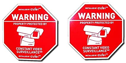amazon com 2 pack cctv security camera warning signs 9