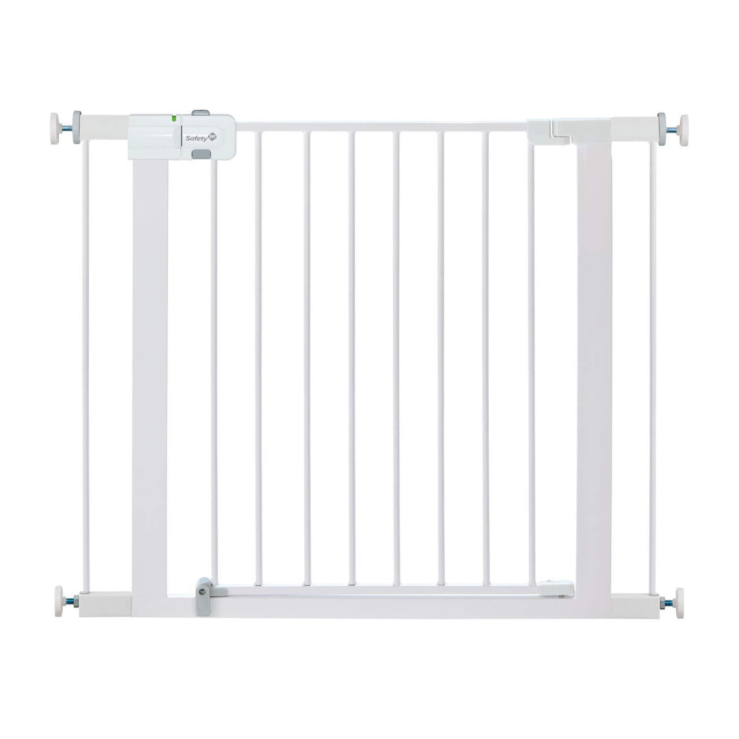 Safety 1st Easy Install Metal Baby Gate with Pressure Mount Fastening (White) by Safety 1st