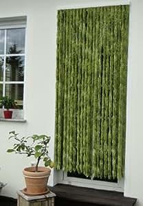 Leguana - Cortina para puerta chenille 120x230 unigrün