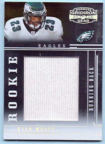 2005 Donruss Gridiron Gear Football - Ryan Moats 2005 Donruss Gridiron Gear Rookie Player Worn Jersey Jumbo Swatch #129 - 115/150 - Philadelphia Eagles
