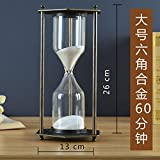 LWCX Vintage Wooden Hourglass Timer With Various Styles Oak Base G 60 Minutes