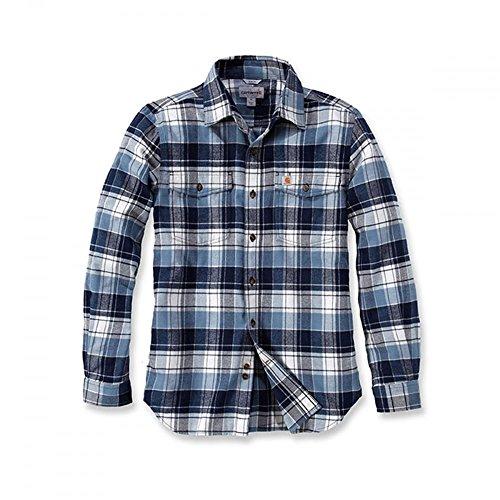 Shirt Steel Carhartt Trumbull Flanell Blue Longsleeve dvIqw