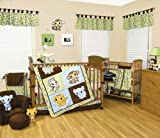 22 Pieces – Chibi Zoo Anime Trend Lab Baby Complete Nursery Ensemble Crib Bedding Set