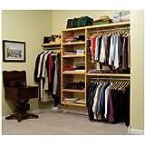John Louis Home JLH 525 Deluxe 16 Inch Deep Closet Shelving System, Honey
