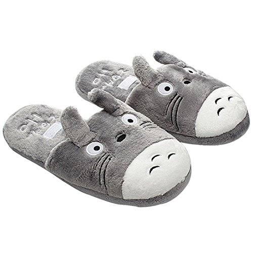 Yspring My Neighbor Totoro Cute Shoes Cartoon Couple Comfortable Indoor Plush Warm Slippers