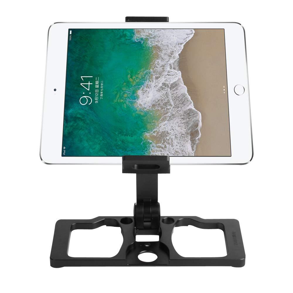 for DJI Gopro Action Camera, Sunnylife TY-ZJ035 Upgrade Full Aluminum Alloy Smartphone & Tablet Holder for DJI Mavic 2 / Mavic Pro/Mavic Air/Spark/Crystalsky Monitor(Black) (Color : Black)