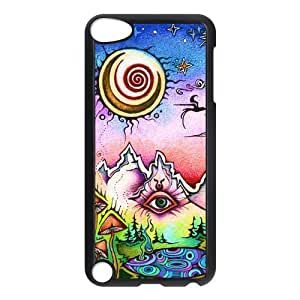 Beautiful Customized iPod 5 Case Hard Plastic Material Cover Skin For iPod iTouch 5th - Sun and Moon Case