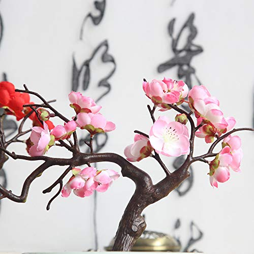 - Hot Sale!DEESEE(TM)Artificial Silk Fake Flowers Plum Blossom Floral Wedding Bouquet Party Decor (Pink)