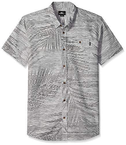 - O'Neill Men's Fronzarelli Short Sleeve Woven Shirt, Fog, XL