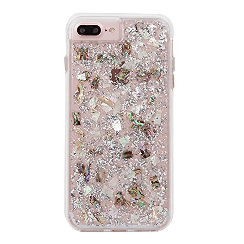 Case-Mate iPhone 8 Plus Case - KARAT - Real Mother of Pearl - Slim Protective Design for Apple iPhone 8 Plus - Mother of (Pearl Petals)