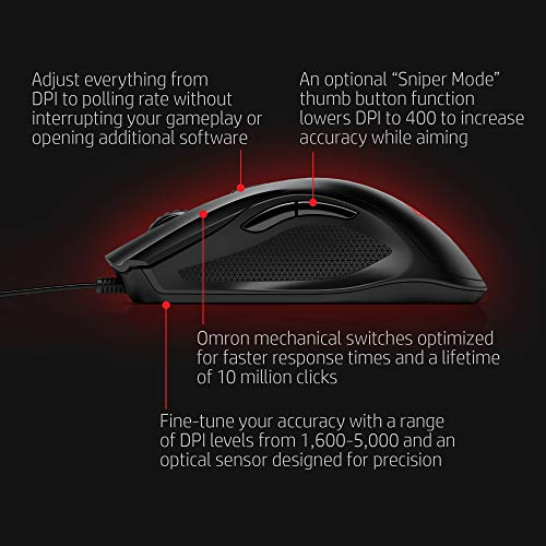 Computer Mice Mouse Accessories OMEN by HP Wired USB Gaming Mouse 400  -Optimized Mechanical | PrestoMall - Mouse & Mousepads
