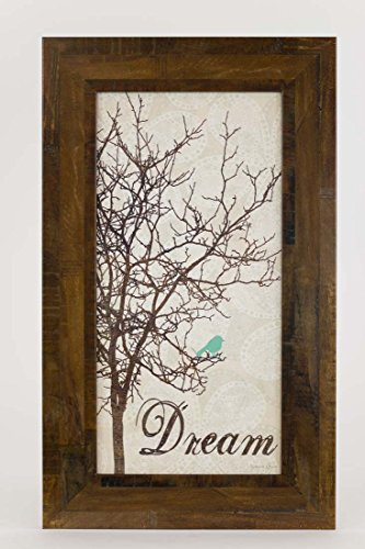 Dream Tree Restoration Restored Bird Tree Blue Framed Art Decor 10x16