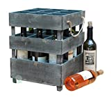 wooden crate wine rack - Vintiquewise(TM) Antique Style Stackable Wooden Wine Crates