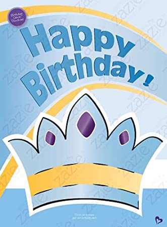 Amazon Oversize Birthday Card With Crown Punchout Very