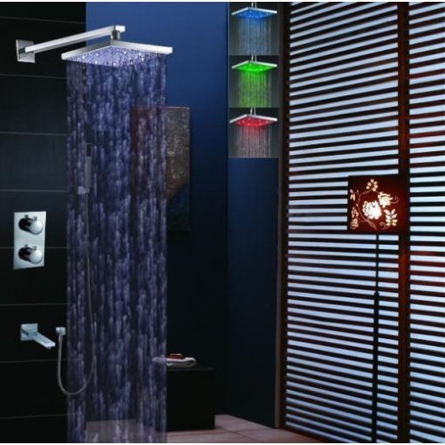 8 inches ORB shower head with led - 9