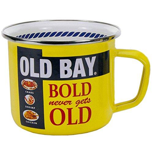Enamelware - Old Bay Pattern - 24 Ounce Soup Mug