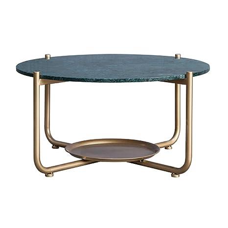 Mesa de Centro, mármol Verde Esmeralda, encimera y Marco de ...