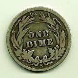 1892 Various Mint Marks - 1912 Barber Dime Dime Circulated