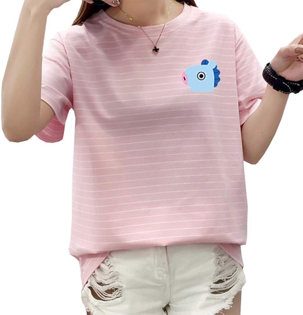 CAR-TOBBY M-2XL KPOP BTS - Camiseta de manga corta para mujer ...