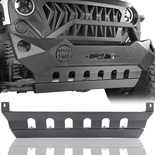 - u-Box Jeep Wrangler JK 07-18 Front Skid Plate - Textured Black