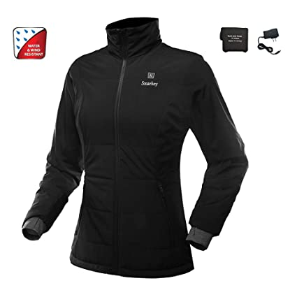 Battery Heated Clothing >> Smarkey Heated Jacket For Women With 1pcs 4400mah Battery And Charger For Winter Outdoor Wear M