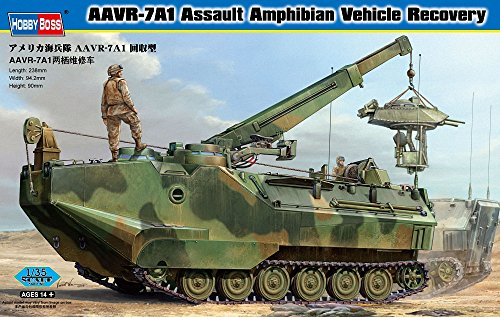 Kit Amphibian Vehicle (Hobby Boss AAVR-7A1 Assault Amphibian Recovery Vehicle Model Building Kit)