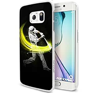 Baseball Hit Homerun Smartphone Samsung Galaxy S6 Case Cover Collector White Hard Cases