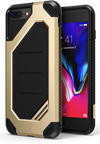 Ringke MAX Compatible with Apple iPhone 7 Plus, iPhone 8 Plus Phone Case Advanced Dual Layer Heavy Protection [Shock Absorption Technology] Armor Strength Protective Cover - Royal Gold