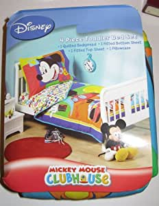 Amazon.com: Mickey Mouse Clubhouse 4 Piece Toddler Bed Set ...