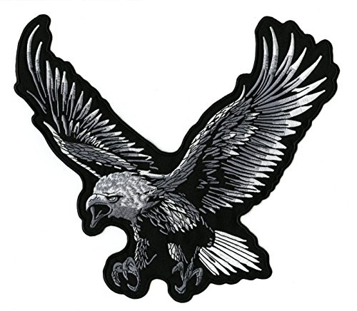 Huge Silver Eagle Patch | Embroidered Patriotic Military for sale  Delivered anywhere in USA
