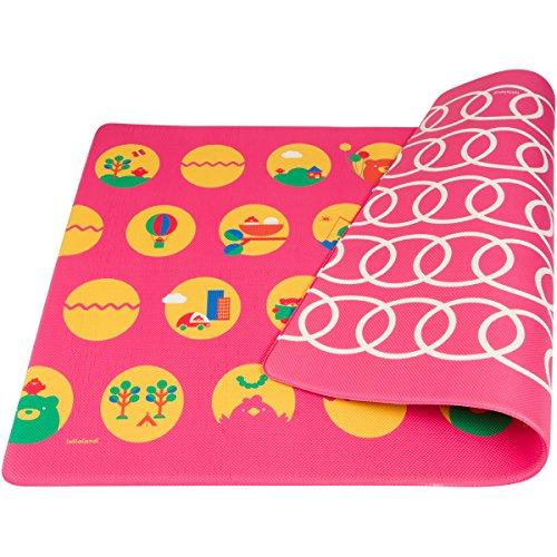 UPC 851719005363, Lollaland Play Mat Foam Floor - Non-Toxic BPA-Free Non-Slip Reversible Waterproof, Posh Pink