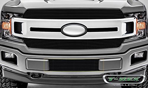 (T-Rex 25571B Billet Series Bumper Grille Overlay Black Polished Aluminum Horizontal Overlay Billet Series Bumper Grille Overlay)