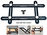 Toughest Tools Angleizer Ruler | Multi Angle Measuring Tool | Angle Finder | Universal Angle Ruler | Angle Ruler | Universal Template Tool | Black