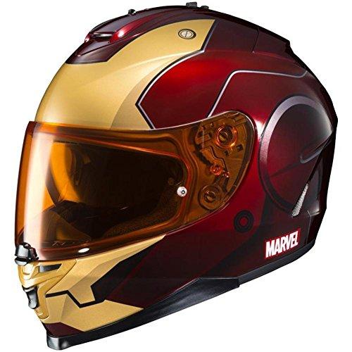 HJC XF-10-0818-1501-04 IS-17 Marvel Iron Man Helmet, Size: Sm, Distinct Name: MC-1, Gender: Mens/Unisex, Primary Color: Red, Helmet Type: Full-face Helmets, Helmet Category: ()