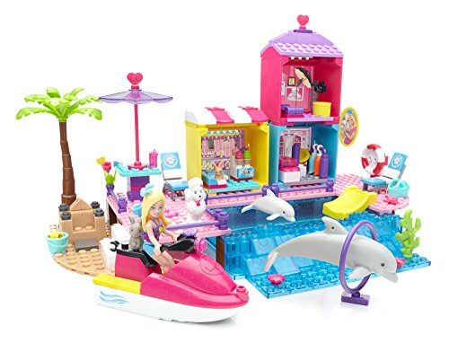 Mega Slide - Mega Bloks Barbie Pet Beach Boardwalk Building Set