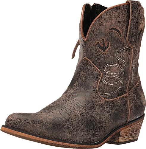 Dingo Womens Taupe Adobe Rose 7in Cactus Leather Cowboy Boots 8 M