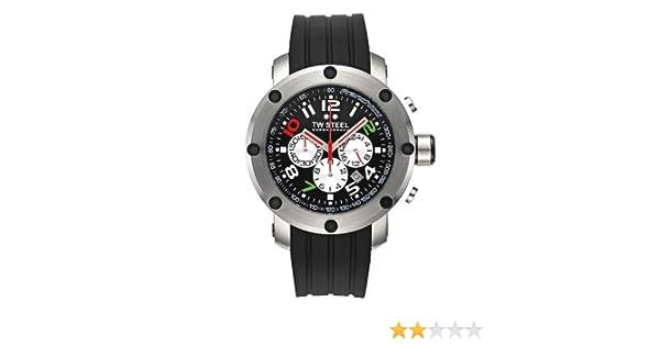 TW Steel TW-607 - Reloj unisex de cuarzo, correa de silicona color negro: Amazon.es: Relojes