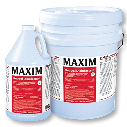 Midlab Maxim Neutral Disinfectant, 1 Gallon (4, 1 Gallon)