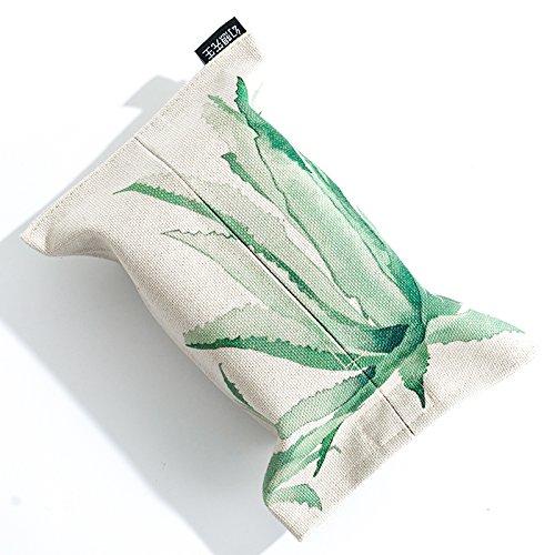 TISZJHU Tissue Box Porta Fazzoletti Scatola per fazzoletti Asciugamano di carta da salotto semplice scatola del tessuto del cotone imposta borse di carta velina foresta pluviale Pompaggio Sacchetto di carta tessuto, inchiostro aloe TISZJHU@
