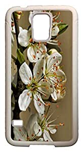 Blueberry Design Galaxy S5 Case romantic white Leaves - Ideal Gift by supermalls