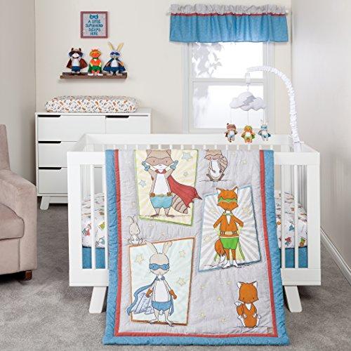Trend Lab Superheroes 3 Piece Crib Bedding/Nursery Set ()
