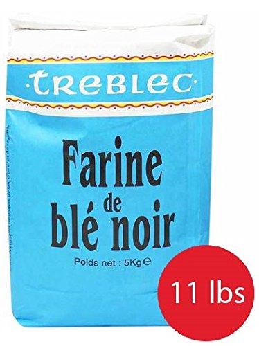 TREBLEC Buckwheat Flour From Brittany -''Farine de Sarrasin'' - 11lb/5KG by Treblec