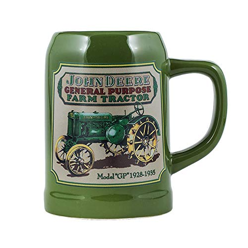 John Deere Licensed Green Tractor 17 Ounce Ceramic Stoneware Coffee Mug