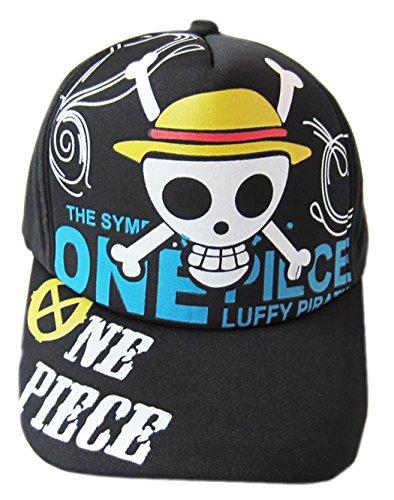 Anime One Piece Hat Cosplay Cap Baseball Cap Canvas Cap (Monkey D Luffy1)