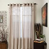 Cheap Bedford Home Karla Laser-Cut Grommet Single Curtain Panel, 84-Inch, Beige