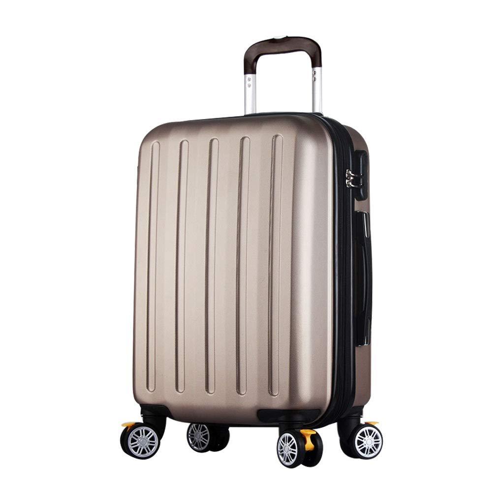 ハンド荷物スーツケース超軽量ABSハードシェル旅行は4つのホイール、航空&詳細情報のために承認されたハードシェルトロリーサイズのアドオンキャビンハンド荷物スーツケースキャリー   B07P7KMPG8