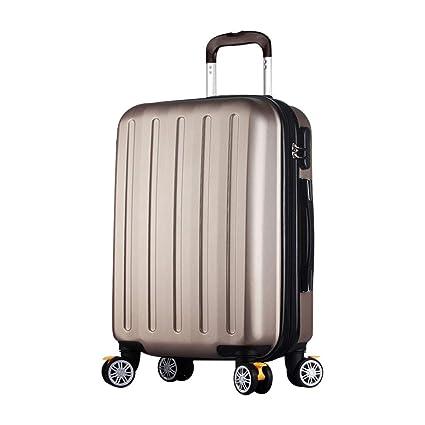 Maletas de equipaje de mano ABS súper ligero Maletas duras para viajes de maleta Maleta para equipaje de mano con 4 ruedas, Tamaño de carro de concha dura ...